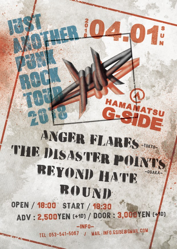 ANGER FLARES & THE DISASTER POINTS 『JUST ANOTHER PUNK ROCK TOUR 2018』